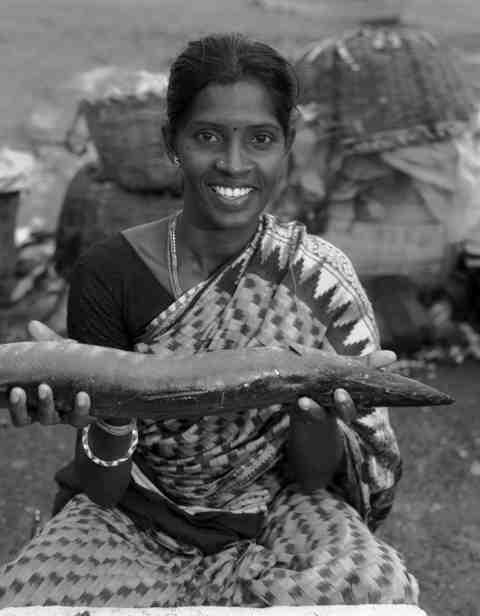Lakshimi is a fish seller in India.