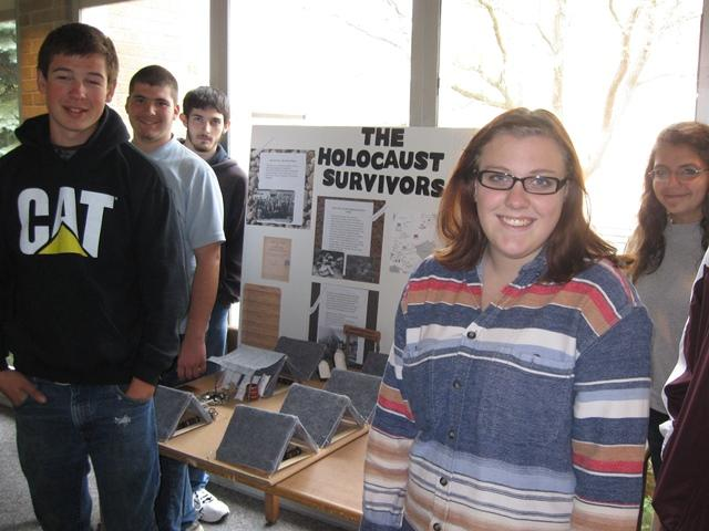 This is the third year ERHS students have created a Holocaust memorial at their school.