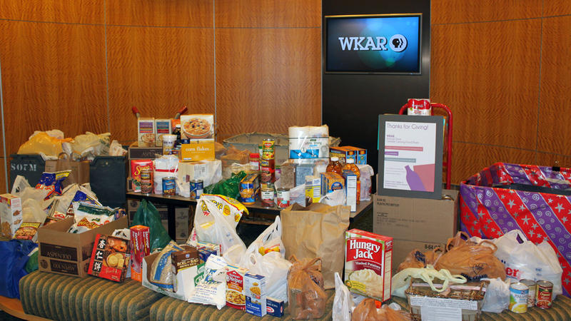 Donated food and items