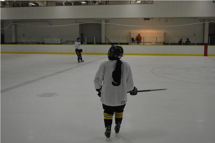 An Ann Arbor Narwhal takes the ice.