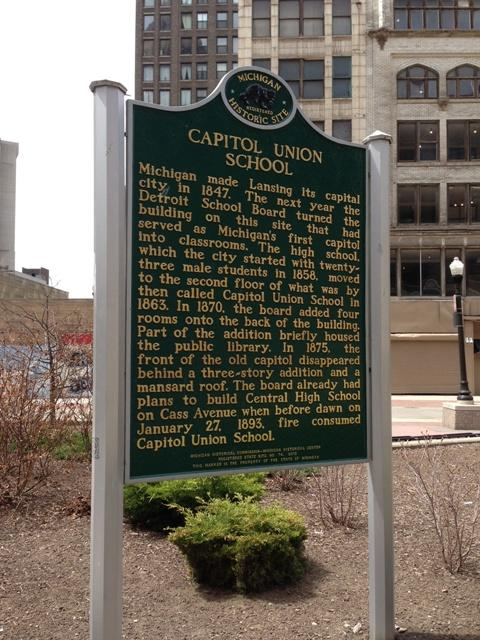 When Lansing became the capitol, the building in Detroit was used as a school.