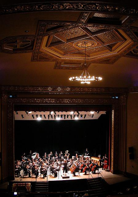 Orchestra on theatre stage