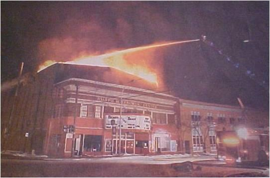 Fire struck the Lebowski Center on February 13, 2007.