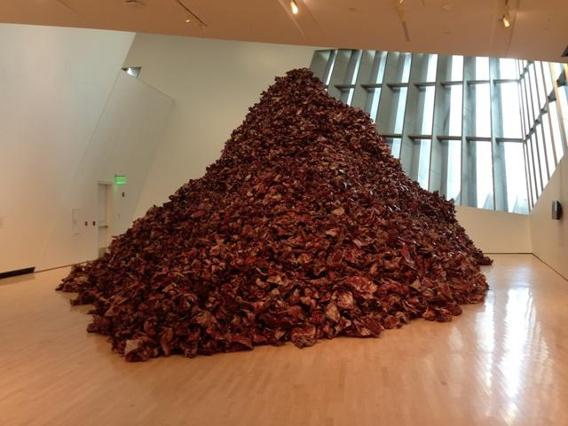 Inside the Broad Art Museum's, Qureshi's 'And They Still Seek the Traces of Blood' dominates the exhibition called 'The God of Small Things'.
