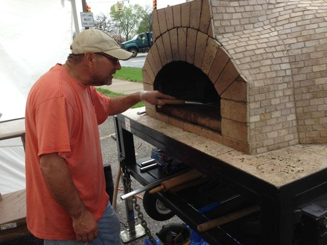 Frank Tigninelli has been making pizzas for over 40 years.