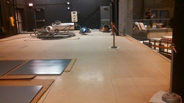 The Lebowsky Center's stage floor.