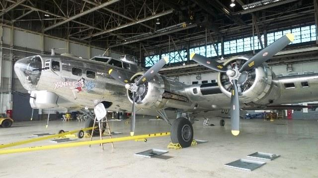 "The B-17 bomber ""Yankee Lady"" is housed at what remains of the Willow Run bomber plant near Ypsilanti.  The Yankee Air Museum is planning to move into the space once it's refurbished."
