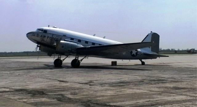 The C-47 was the workhorse of the U.S. airborne forces.  It's the same type of plane from which Donald Burgett jumped on D-Day.