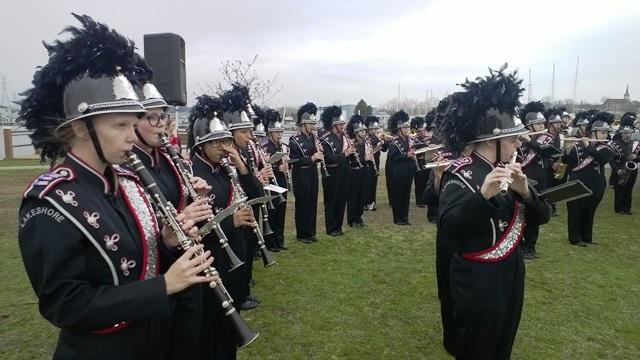 The Lakeshore Lancers marching band from Stevensville is performing in Normandy this week to observe the 70th anniversary of D-Day.