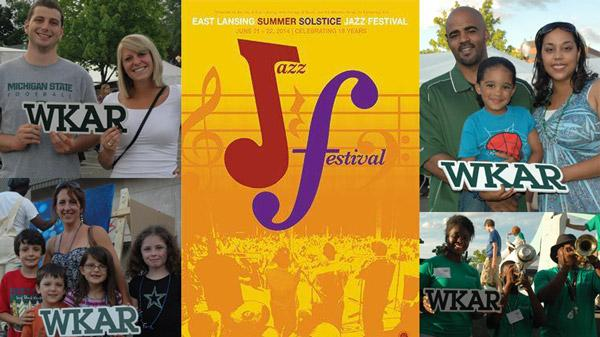 Summer Solstice Jazz Festival poster wih fan photos
