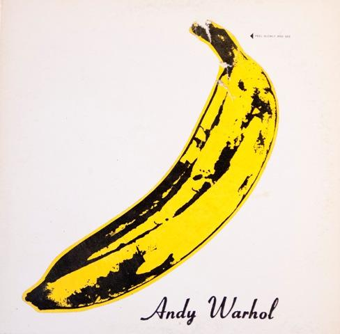 'The Velvet Underground and Nico', 1967. Notice that the band is not named on the original cover.
