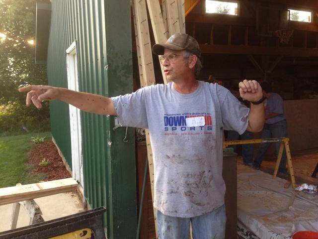 David Flint is a Lansing dentist. He's running the Pew Crew out of a pole barn at his home near Williamston.