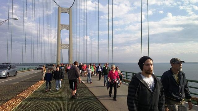 The Mackinac Bridge Walk first took place in 1958.  Each year, it draws tens of thousands of participants from across Michigan and the U.S.