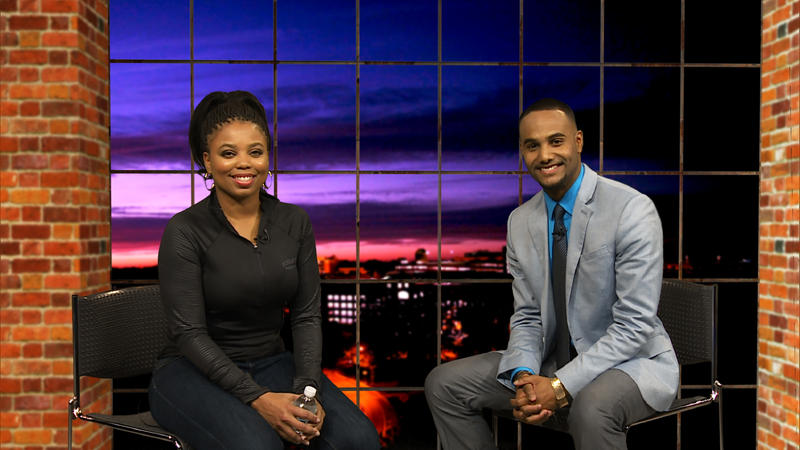 Guest and host on Current Sports set