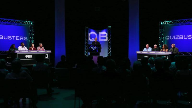 QuizBusters teams in Studio A