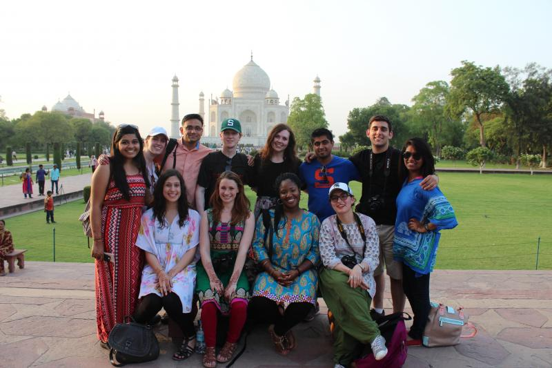 A trip to the Taj Mahal was on the itinerary.