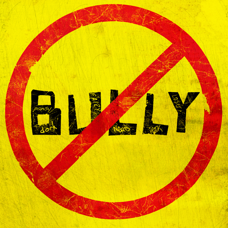 Bully with international symbol for NO