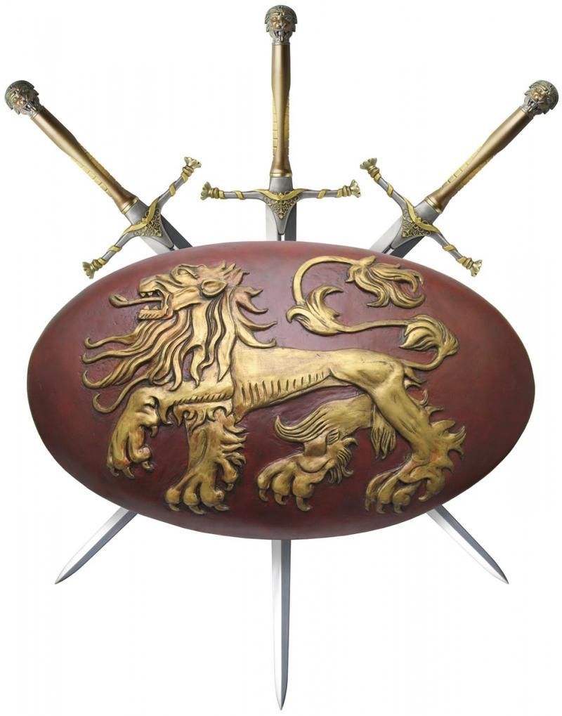 Shield and three swords
