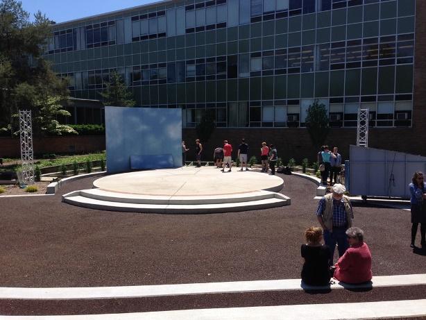 Courtyard scene