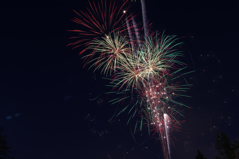 Fireworks over Lansing