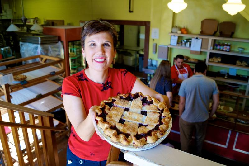 Come along on a tour of fruity and creamy pie shops and meet crusty and flaky cooks.