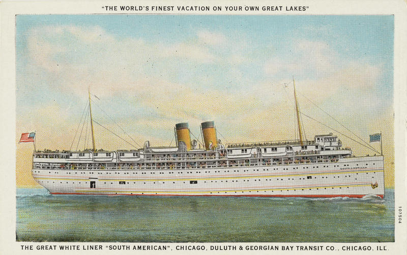 picture of Great Lakes steamship
