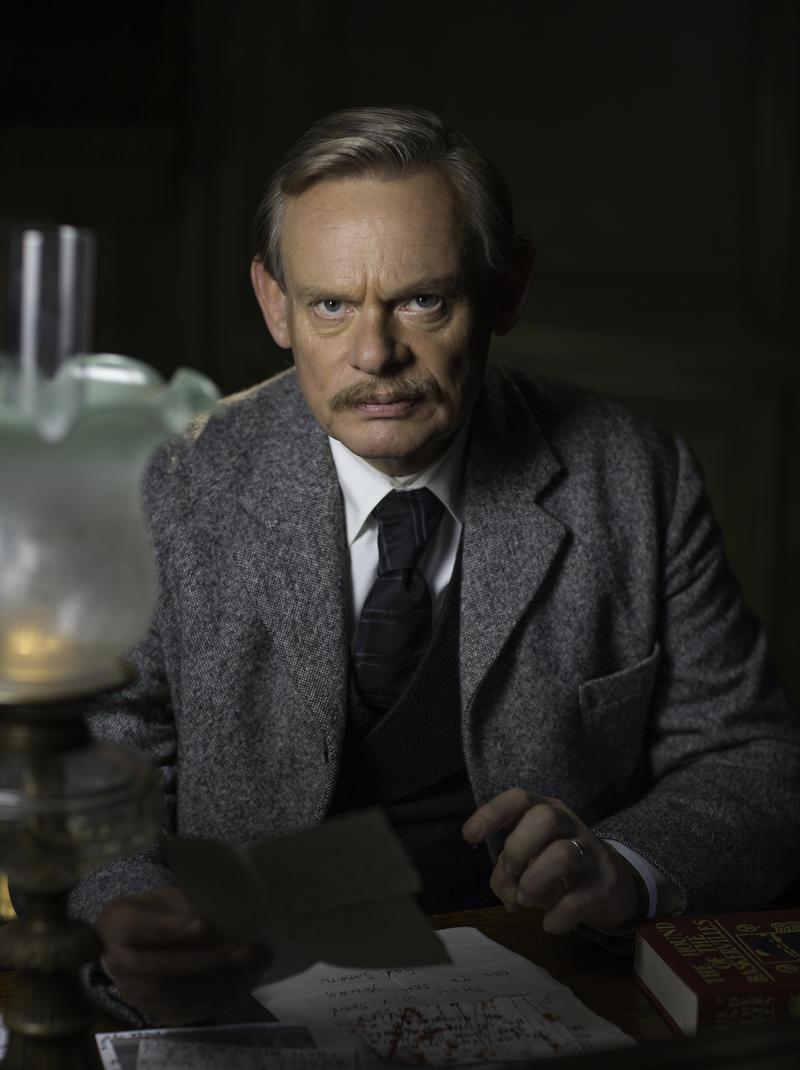 """Martin Clunes as Sir Arthur Conan Doyle in """"Arthur & George"""""""