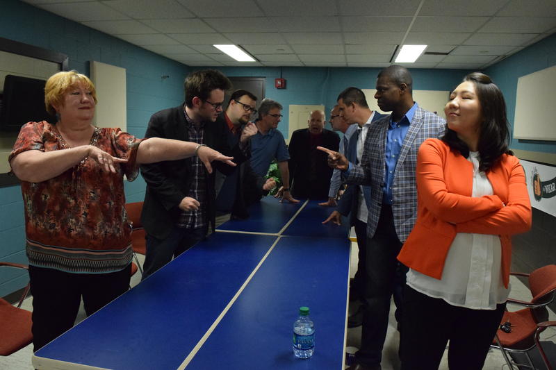 Teams face off in the green room