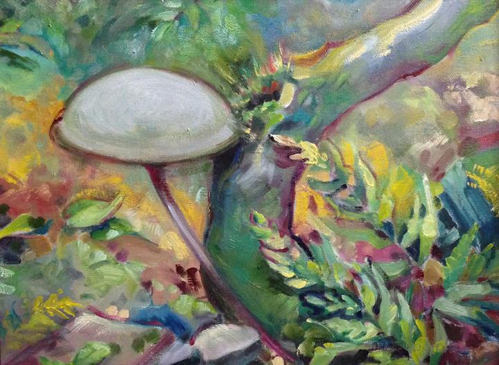 painting of mushroom