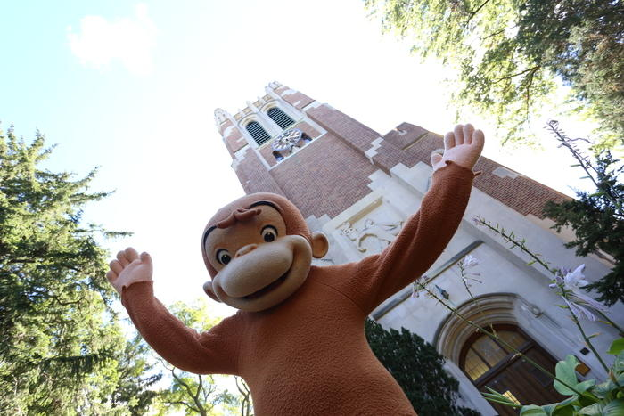 Curious George at Beaumont Tower