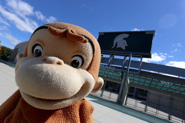 Curious George at Spartan Stadium