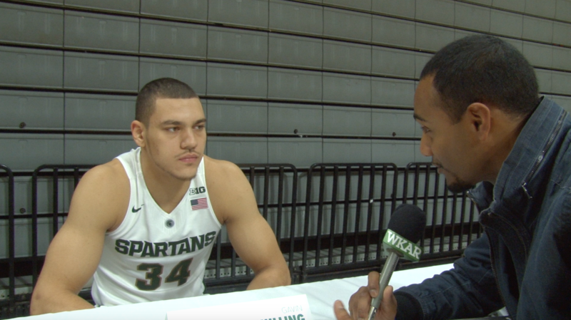 """Current Sports"" reporter Al Martin talks with MSU forward Gavin Schilling on the upcoming men's basketball season."
