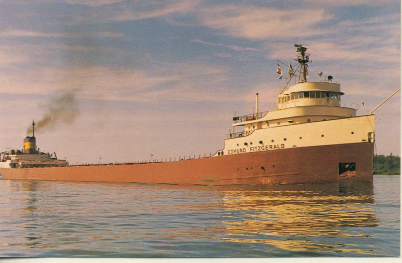 postcard of the Edmund Fitzgerald