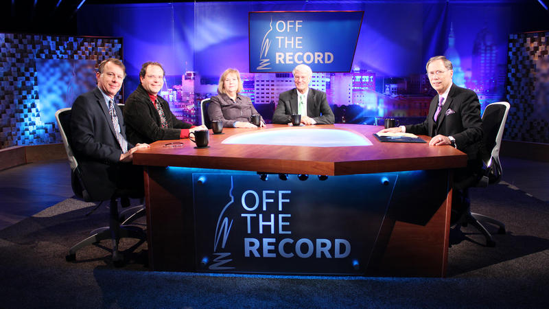Rick Pluta, Kyle Melinn, Kathy Gray and Bill Ballenger appearing on Off the Record with Tim Skubick.