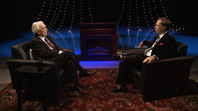Former Michigan Attorney General Frank Kelley appearing on Off the Record with Tim Skubick.