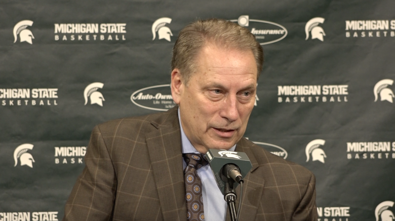 MSU men's basketball coach Tom Izzo addresses the media after Wednesday night's loss to Nebraska.
