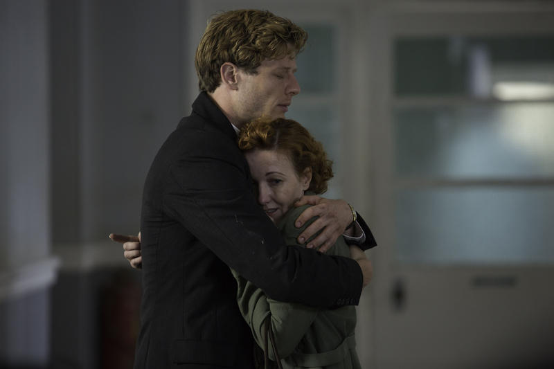 Scene from Ep. 6 (l-r) James Norton as Sidney Chambers and Kacey Ainsworth as Cathy Keating
