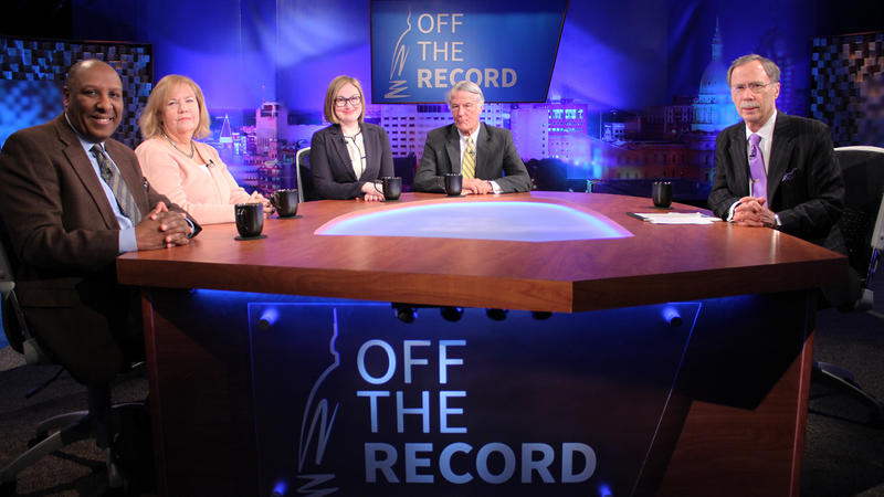 Chuck Stokes, Kathy Gray, Zoe Clark and Bill Ballenger appearing on Off the Record with Tim Skubick.