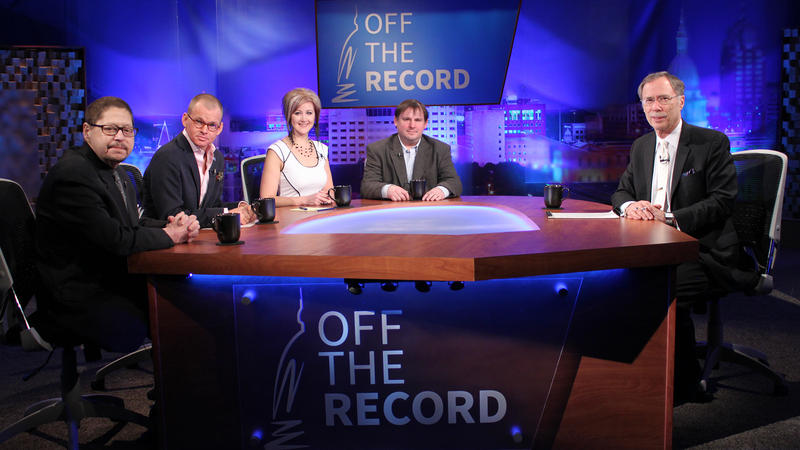 Bloggers Eric Baerren, Dennis Lennox, Kathy Hoekstra and Tony Trupiano appearing on Off the Record with Tim Skubick.
