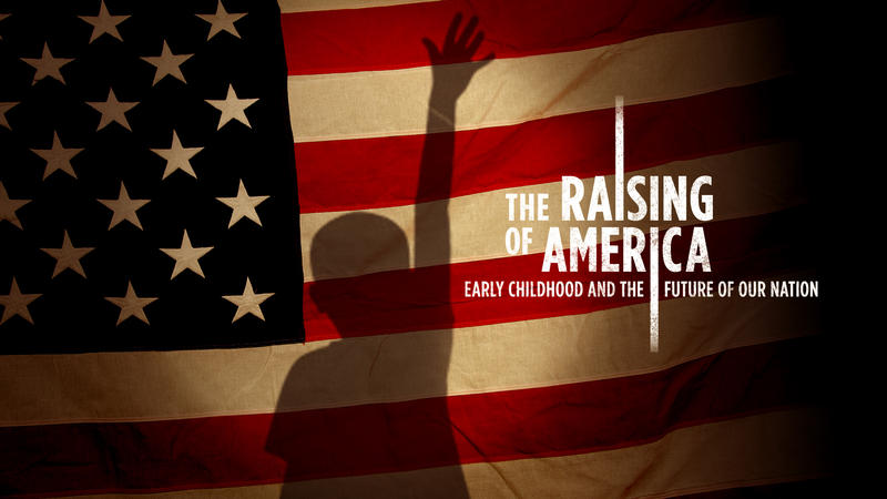 The Raising of America - Flag with child silhouette
