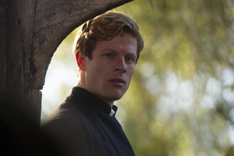 Scene from Ep. 1 (l-r) Morven Christie as Amanda Kendall and James Norton as Sidney ChambersJames Norton as Sidney Chambers