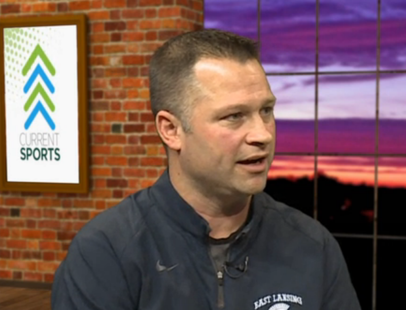 Rob Smith is the head coach of the East Lansing girls basketball team. They play for the regional championship against Jackson Northwest tomorrow night at 7pm.