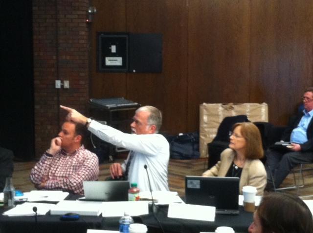 Grant Trigger (center) representing Michigan at last week's meeting of regional representatives in Chicago.