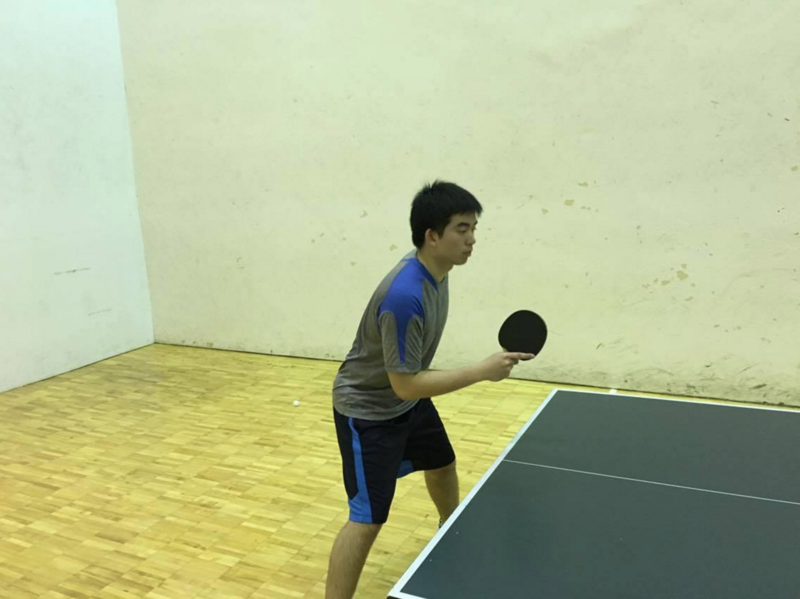 Eric Wu practicing at IM West.