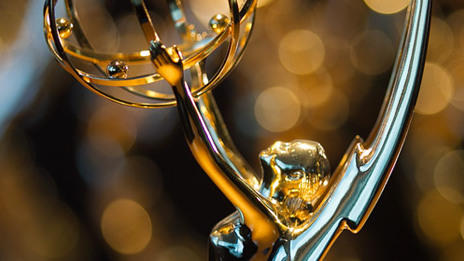Close Up of Emmy statue