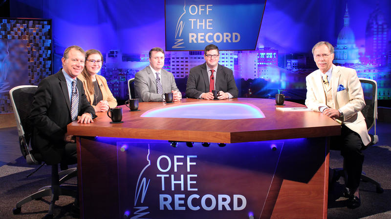 Rick Pluta, Paul Egan, Chad Livengood and Emily Lawler appearing on Off the Record with Tim Skubick.