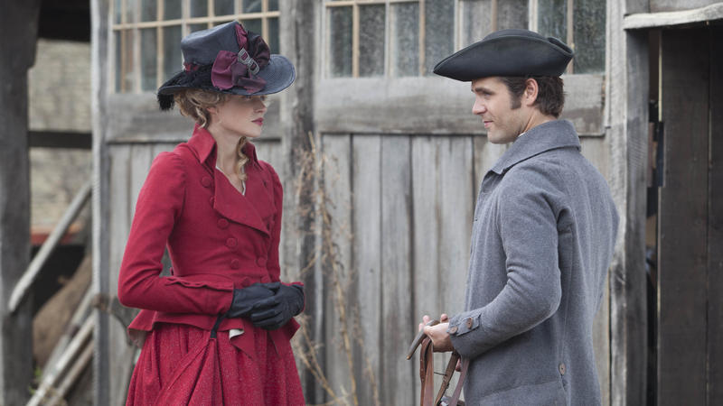 Scene from Ep. 2 (l-r)  Gabriella Wilde as Caroline Penvenen and Luke Norris as Dwight Enys