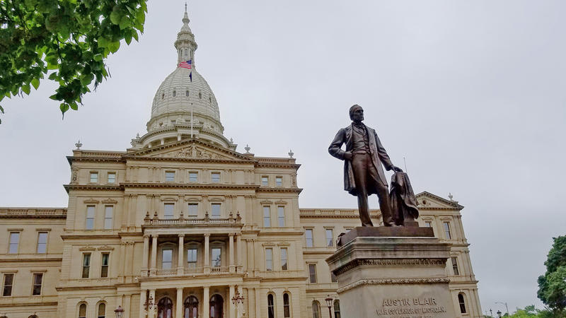 State capitol in downtown Lansing.