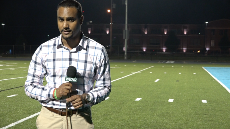 WKAR's Al Martin reports from Cougar Stadium on the Lansing Catholic win over Williamston.