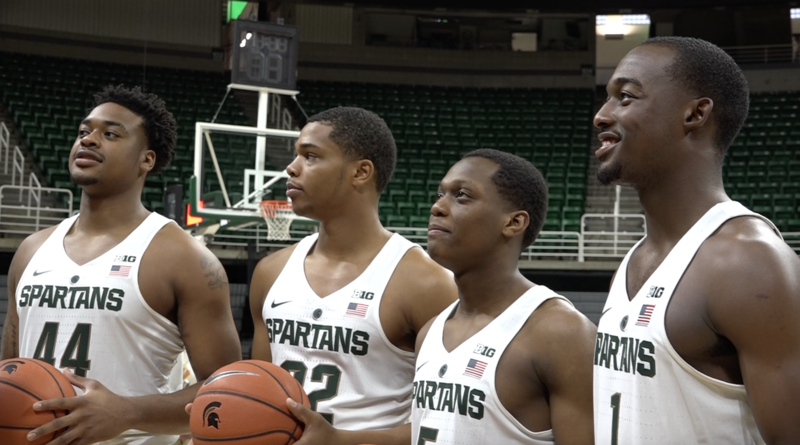 Members of the incoming freshmen class for the 2016-17 MSU men's basketball team. (Left to Right- Nick Ward, Miles Bridges, Cassius Winson, and Joshua Langford)